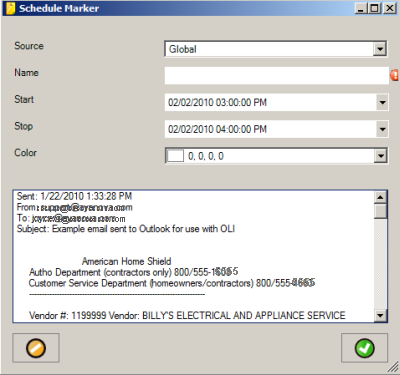 how to make a mock schedule in outlook