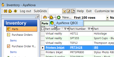 Update your QuickBooks Online linked data with your edited AyaNova objects or vice versa
