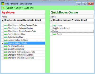 Invoicing > Travel or Service Rate retail charges